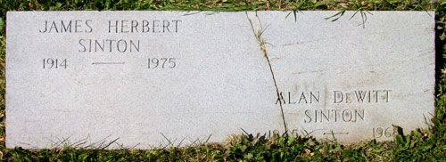 Headstone of Alan DeWitt Sinton 1945 - 1968