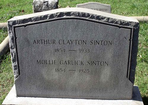 Headstone of Mollie Garlick Sinton 1854 - 1925