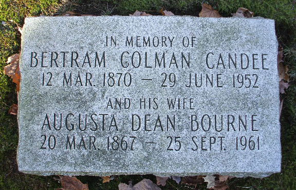 Headstone of Augusta Dean Candee 1867-1961