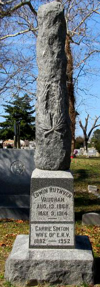 Headstone of Edwin Ruthven Vaughan 1868 - 1914, image 1