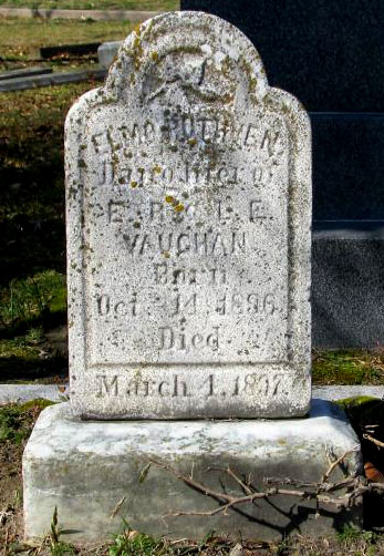 Headstone of Elmo Ruthven Vaughan 1896 - 1997