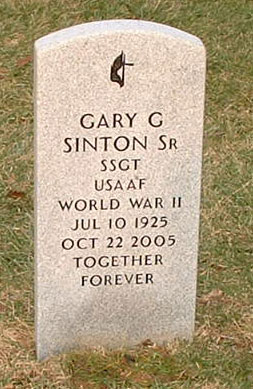 Headstone for Gary G. Sinton, Senior