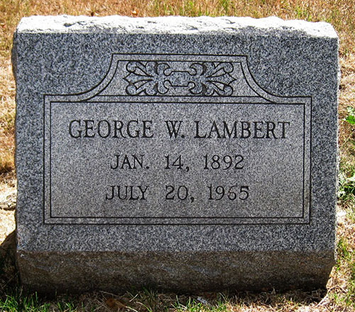 Headstone of George William Lambert 1893 - 1965