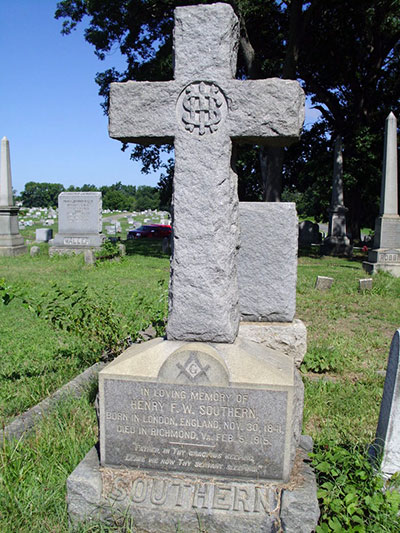 Headstone of Henry Frederick Warman Southern 1840 - 1915
