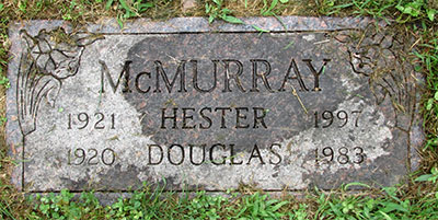 Headstone of Hester Ann McMurray (née Sinton) 1921 - 1997