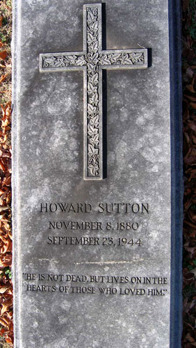 Headstone of Howard Sutton 1880 - 1944