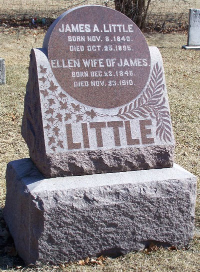 Headstone of Ellen Little (née Sinton) 1840 - 1910