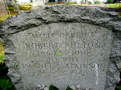 Headstone of Rachel Jane Atkinson Fulton 1872 - 1924