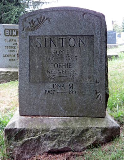 Headstone of Edna M. Sinton 1907 - 1991
