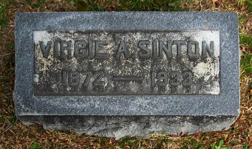 Headstone of Virgie Allen Sinton