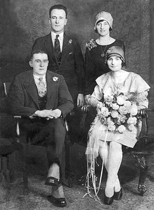 Wedding of Reuben Wilson and Sarah Sinton - 9 February 1929